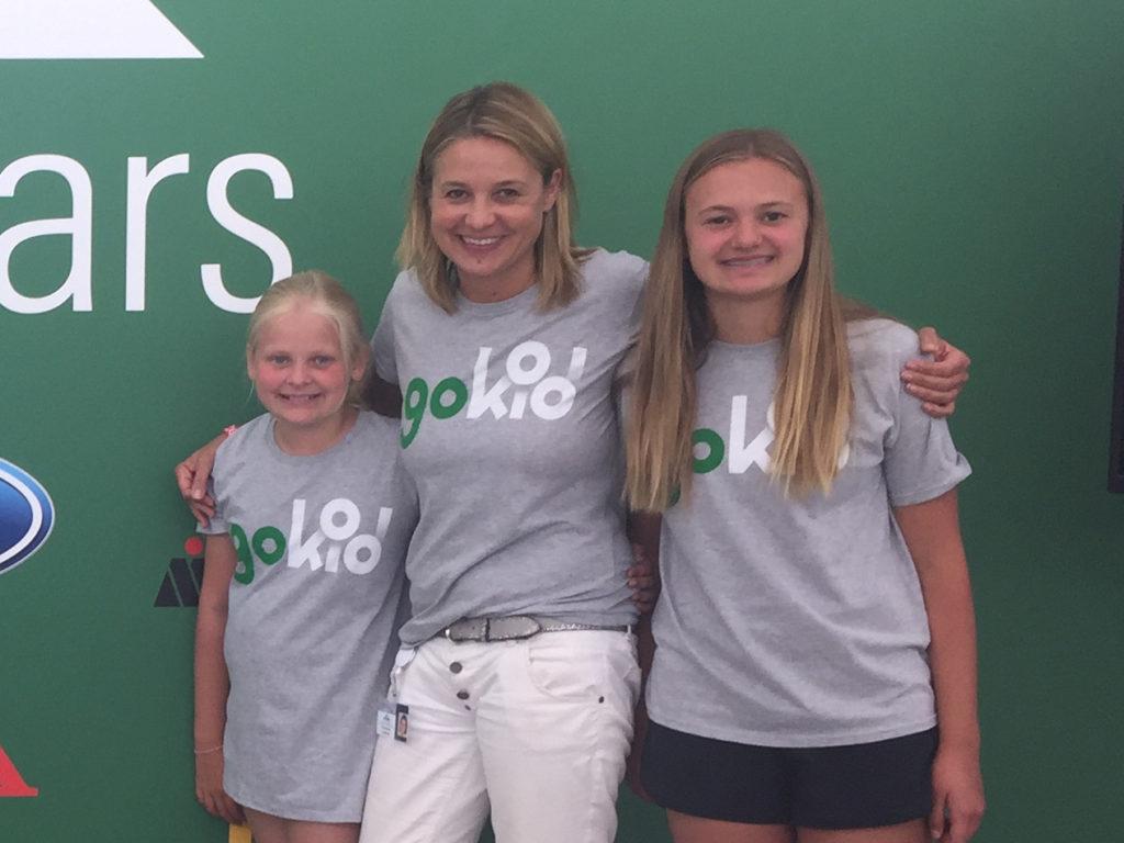 GoKid founder Stefanie Lemcke, with her 2 daughters.